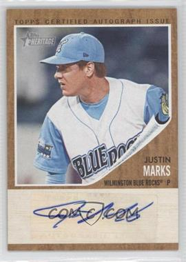2011 Topps Heritage Minor League Edition Real One Certified Autographs [Autographed] #RA-JMA - Justin Marks /861