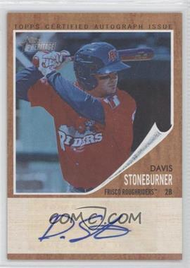 2011 Topps Heritage Minor League Edition Real One Certified Autographs Blue Tint [Autographed] #RA-DS - Davis Stoneburner /99