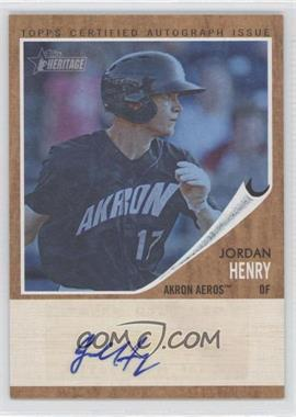 2011 Topps Heritage Minor League Edition Real One Certified Autographs Blue Tint [Autographed] #RA-JH - Jordan Henry
