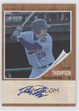 2011 Topps Heritage Minor League Edition Real One Certified Autographs Blue Tint [Autographed] #RA-TTH - Tony Thompson /99