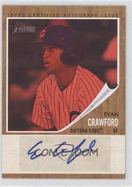 2011 Topps Heritage Minor League Edition Real One Certified Autographs Red Tint [Autographed] #RA-EC2 - Evan Crawford /25