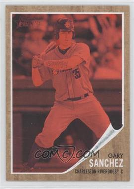 2011 Topps Heritage Minor League Edition Red Tint #39 - Gary Sanchez /620