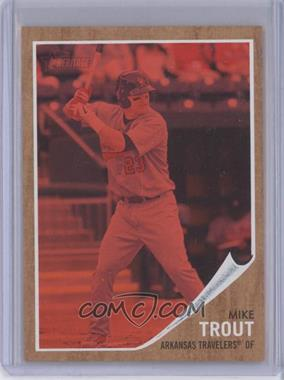 2011 Topps Heritage Minor League Edition Red Tint #44 - Mike Trout /620