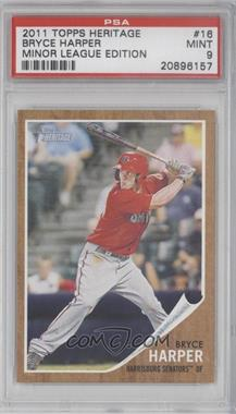 2011 Topps Heritage Minor League Edition #16 - Bryce Harper [PSA 9]
