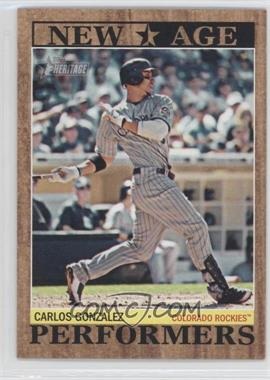 2011 Topps Heritage New Age Performers #NAP-12 - Carlos Gonzalez