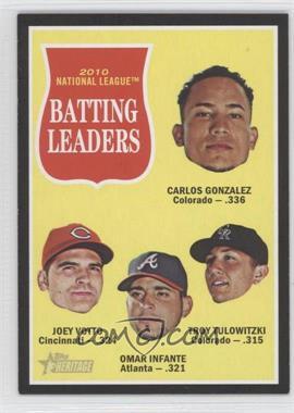 2011 Topps Heritage Retail Black Border #C12 - Joey Votto, Omar Infante, Troy Tulowitzki