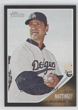 2011 Topps Heritage Retail Black Border #C43 - Don Mattingly