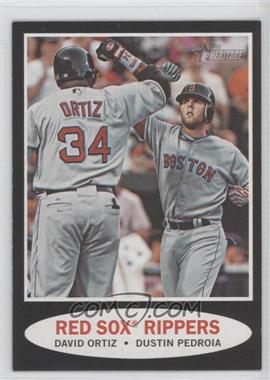 2011 Topps Heritage Retail Black Border #C71 - David Ortiz, Dustin Pedroia