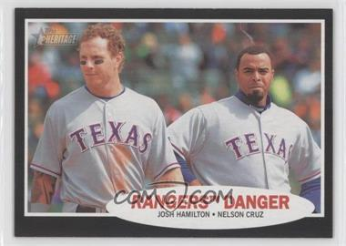 2011 Topps Heritage Retail Blister Pack [Base] Black Border #C58 - Josh Hamilton, Nelson Cruz