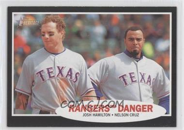 2011 Topps Heritage Retail Blister Pack [Base] Black Border #C58 - Josh Hamilton, Nelson Cruz