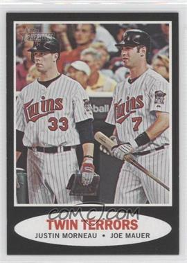 2011 Topps Heritage Retail Blister Pack [Base] Black Border #C83 - Justin Morneau, Joe Mauer