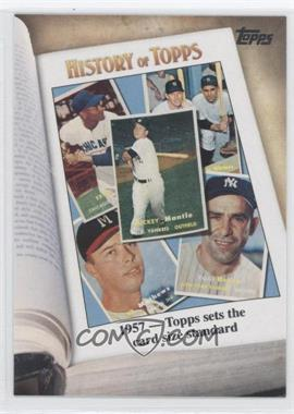 2011 Topps History of Topps #HOT-4 - 1957 - Topps sets the card size standard