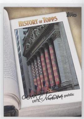 2011 Topps History of Topps #HOT-5 - 1972 - Topps goes public