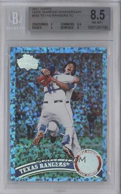2011 Topps Hope Diamond Anniversary #543 - Texas Rangers Team /60 [BGS 8.5]