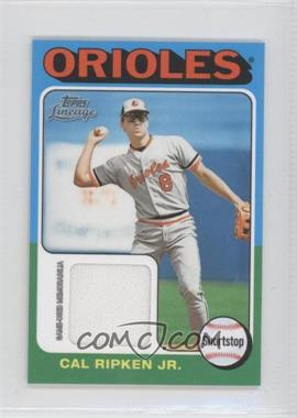 2011 Topps Lineage - [Base] - Mini 1975 Design Relics #75R-CR - Cal Ripken Jr.
