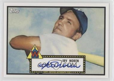 2011 Topps Lineage - Reprint Autographs #RA-IN - Irv Noren