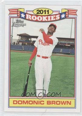 2011 Topps Lineage - Rookies #17 - Domonic Brown