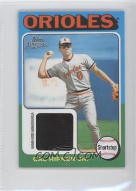 2011 Topps Lineage Mini 1975 Design Relics #75R-CR - Cal Ripken Jr.