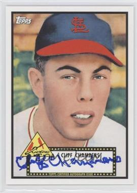 2011 Topps Lineage Reprint Autographs [Autographed] #RA-CC - Cliff Chambers