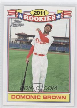 2011 Topps Lineage Rookies #17 - Domonic Brown