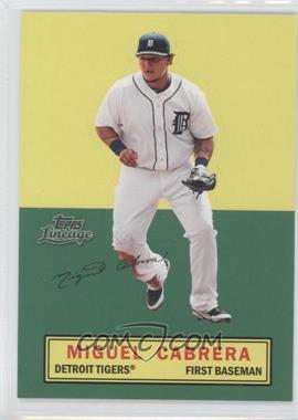 2011 Topps Lineage Stand Ups #N/A - Miguel Cabrera