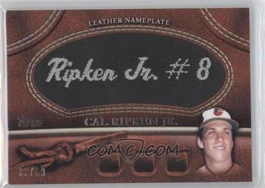 2011 Topps Manufactured Glove Leather Nameplate Black #MGL-CR - Cal Ripken Jr. /99