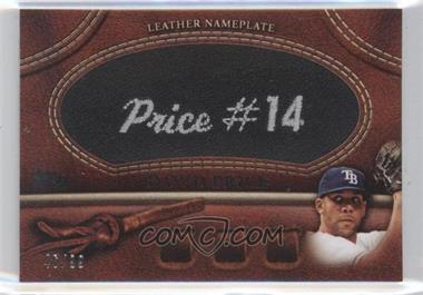 2011 Topps Manufactured Glove Leather Nameplate Black #MGL-DP - David Price /99