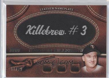 2011 Topps Manufactured Glove Leather Nameplate Black #MGL-HK - Harmon Killebrew /99