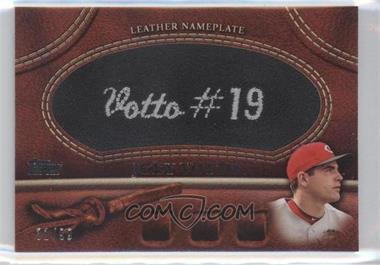 2011 Topps Manufactured Glove Leather Nameplate Black #MGL-JV - Joey Votto /99