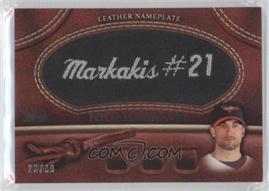 2011 Topps Manufactured Glove Leather Nameplate Black #MGL-NM - Nick Markakis /99