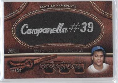 2011 Topps Manufactured Glove Leather Nameplate Black #MGL-RC - Roy Campanella /99