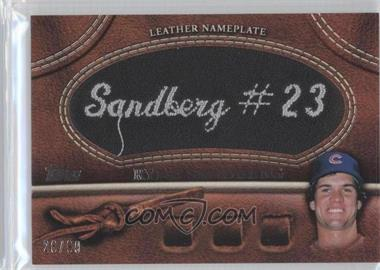 2011 Topps Manufactured Glove Leather Nameplate Black #MGL-RS - Ryne Sandberg /99