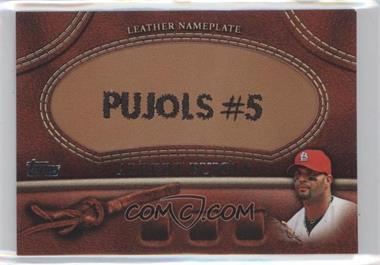 2011 Topps Manufactured Glove Leather Nameplate #MGL-AP - Albert Pujols