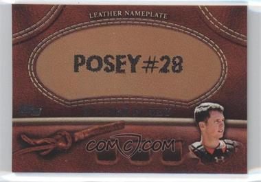 2011 Topps Manufactured Glove Leather Nameplate #MGL-BP - Buster Posey