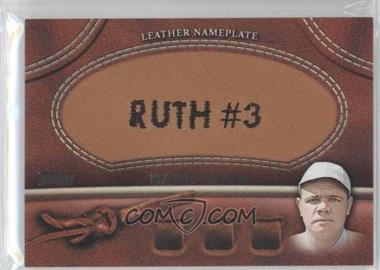 2011 Topps Manufactured Glove Leather Nameplate #MGL-BR - Babe Ruth (White Cap)