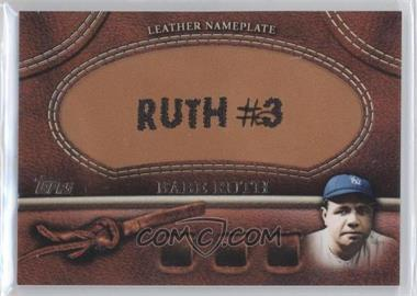 2011 Topps Manufactured Glove Leather Nameplate #MGL-BR - Babe Ruth