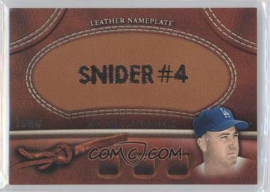 2011 Topps Manufactured Glove Leather Nameplate #MGL-DS - Duke Snider