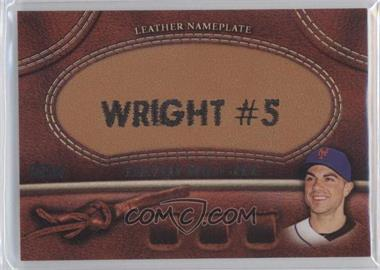 2011 Topps Manufactured Glove Leather Nameplate #MGL-DW - David Wright