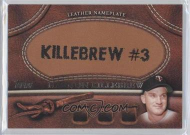 2011 Topps Manufactured Glove Leather Nameplate #MGL-HK - Harmon Killebrew