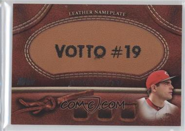 2011 Topps Manufactured Glove Leather Nameplate #MGL-JV - Joey Votto
