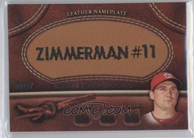 2011 Topps Manufactured Glove Leather Nameplate #MGL-RZ - Ryan Zimmerman
