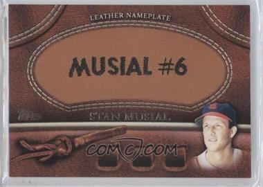 2011 Topps Manufactured Glove Leather Nameplate #MGL-SM - Stan Musial
