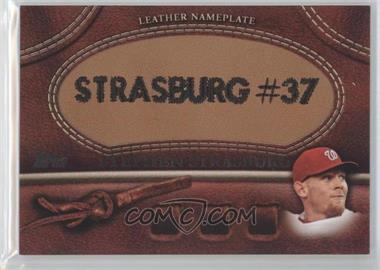2011 Topps Manufactured Glove Leather Nameplate #MGL-SS - Stephen Strasburg