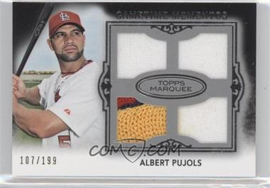2011 Topps Marquee - Gametime Momentos Quad Relics #GMQR-14 - Albert Pujols /199