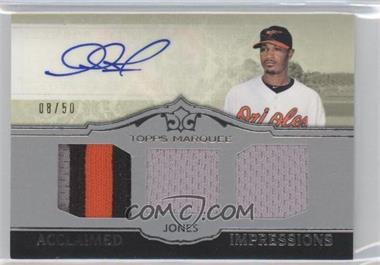 2011 Topps Marquee Acclaimed Impressions Triple #AIT-22 - Adam Jones /50