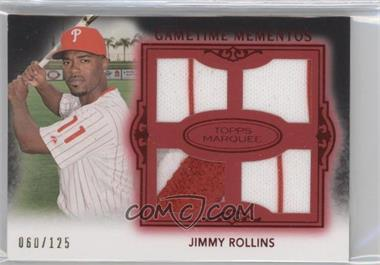 2011 Topps Marquee Gametime Momentos Quad Relics Red #GMQR-43 - Jimmy Rollins /150