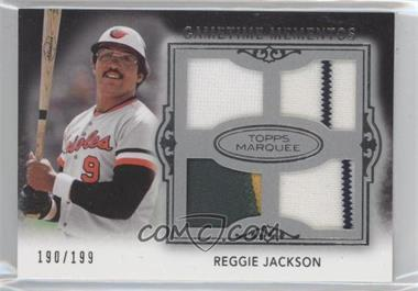 2011 Topps Marquee Gametime Momentos Quad Relics #GMQR-18 - Reggie Jackson /199