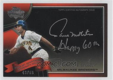 2011 Topps Multi-Product Insert 60th Anniversary Autographs [Autographed] #60A-PM - Paul Molitor /60