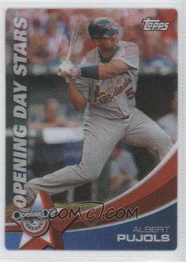 2011 Topps Opening Day - Opening Day Stars #ODS-10 - Albert Pujols