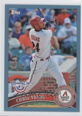 2011 Topps Opening Day Blue #138 - Chris Young /2011